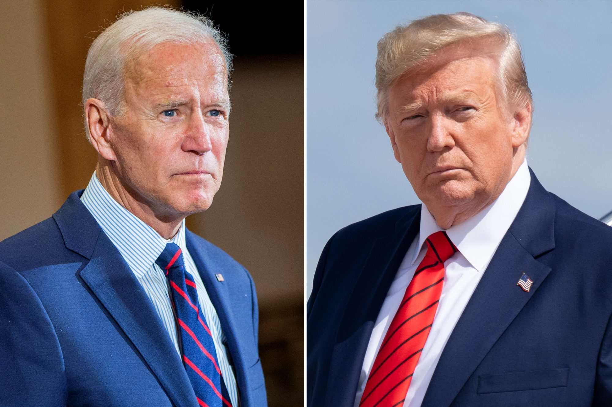 Joe Biden and Trump