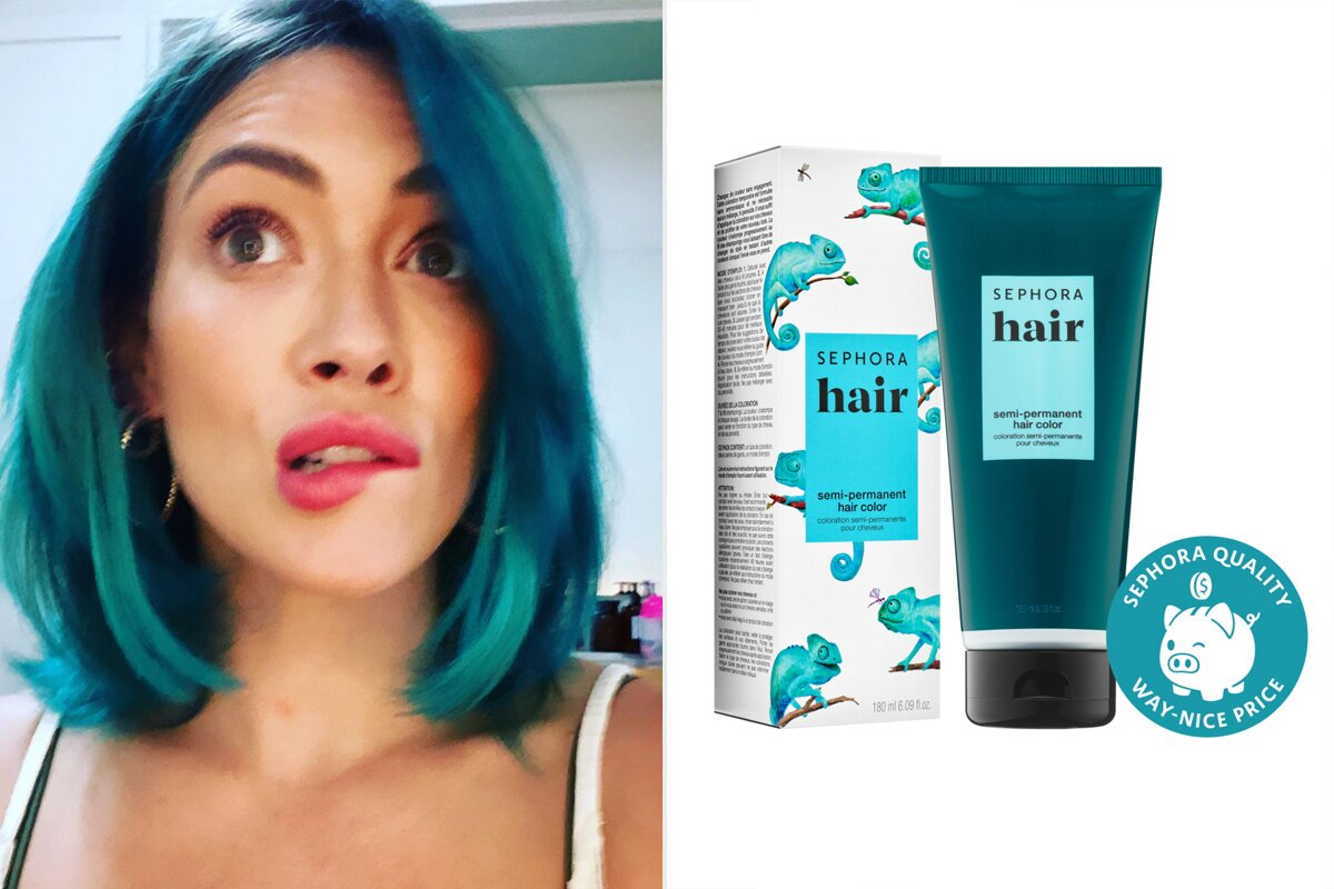 How To Get Hilary Duff Rsquo S Temporary Blue Hair With At Home Dye People