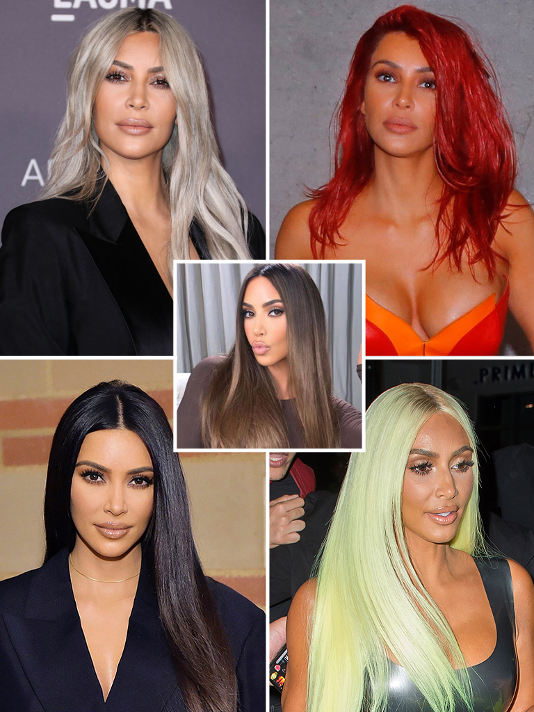 kim kardashian hair colors