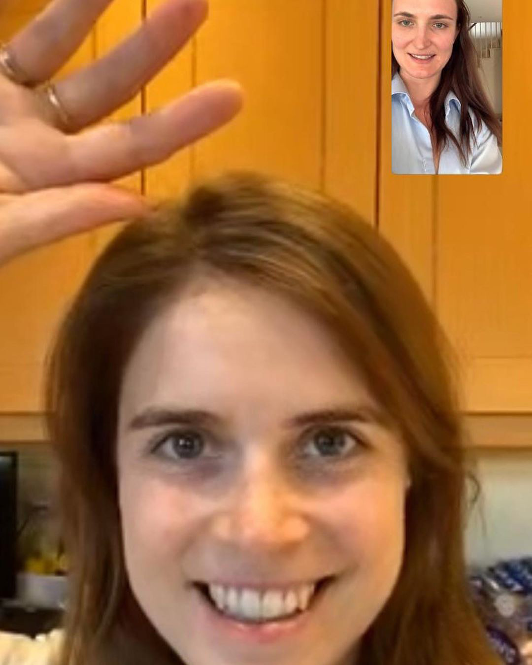 Princess Eugenie Works from Home
