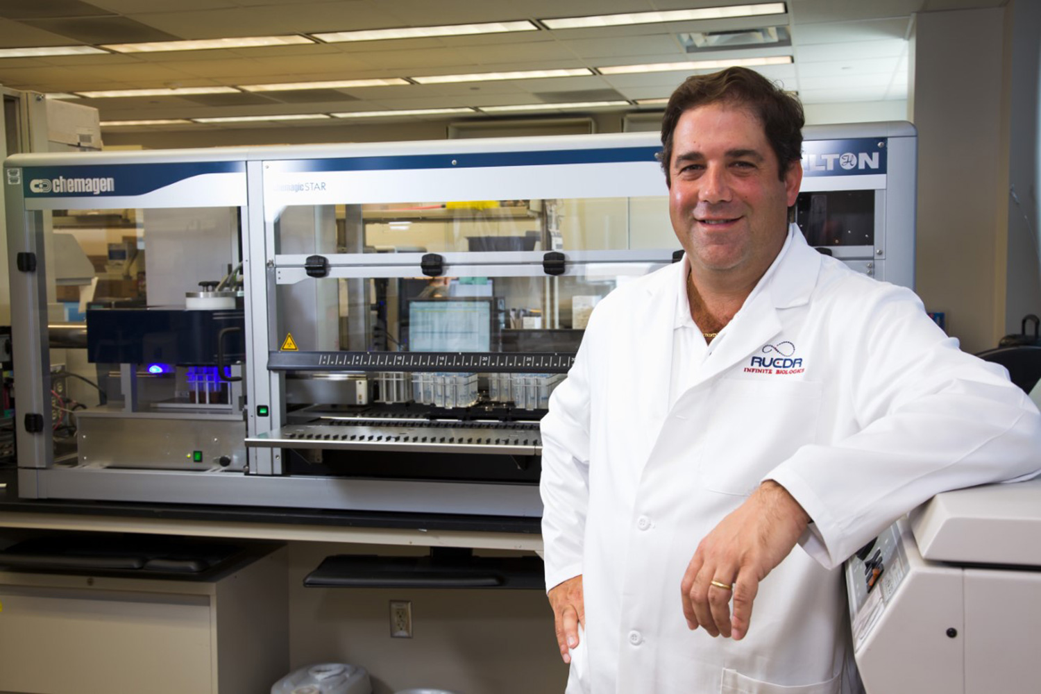 Rutgers Professor Andrew Brooks, chief operating officer and director of technology development at RUCDR Infinite Biologics.
