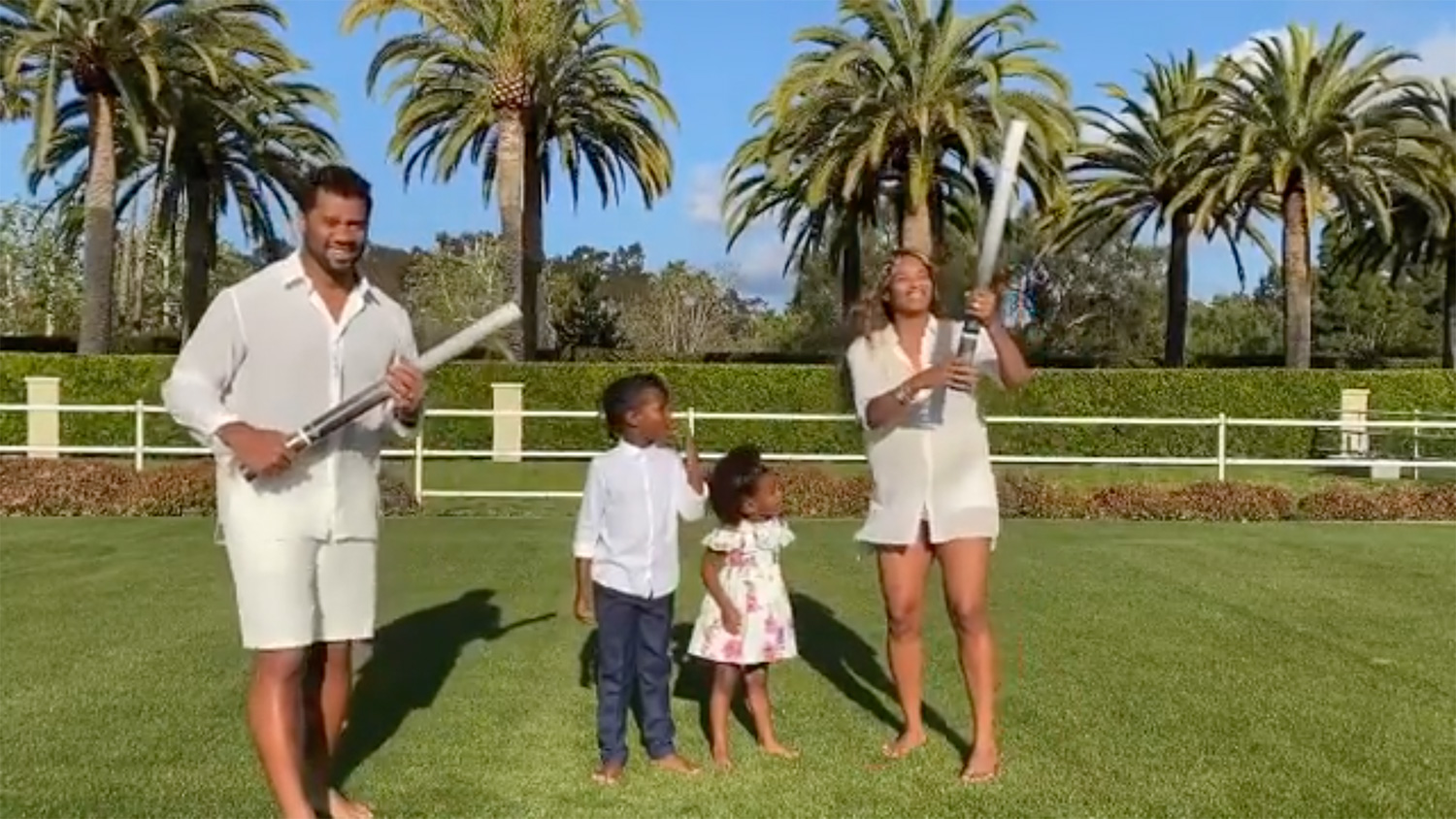 Russell Wilson and Ciara family photos