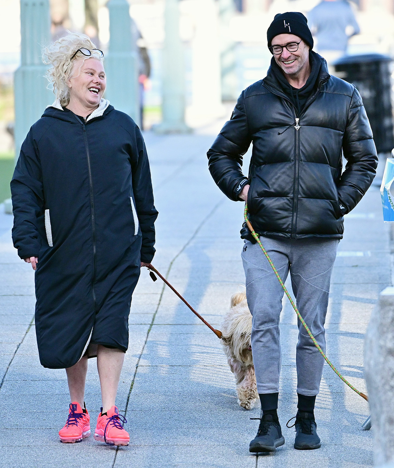 Hugh Jackman and Deborra-Lee Furness are Spotted Without Masks in New York City.