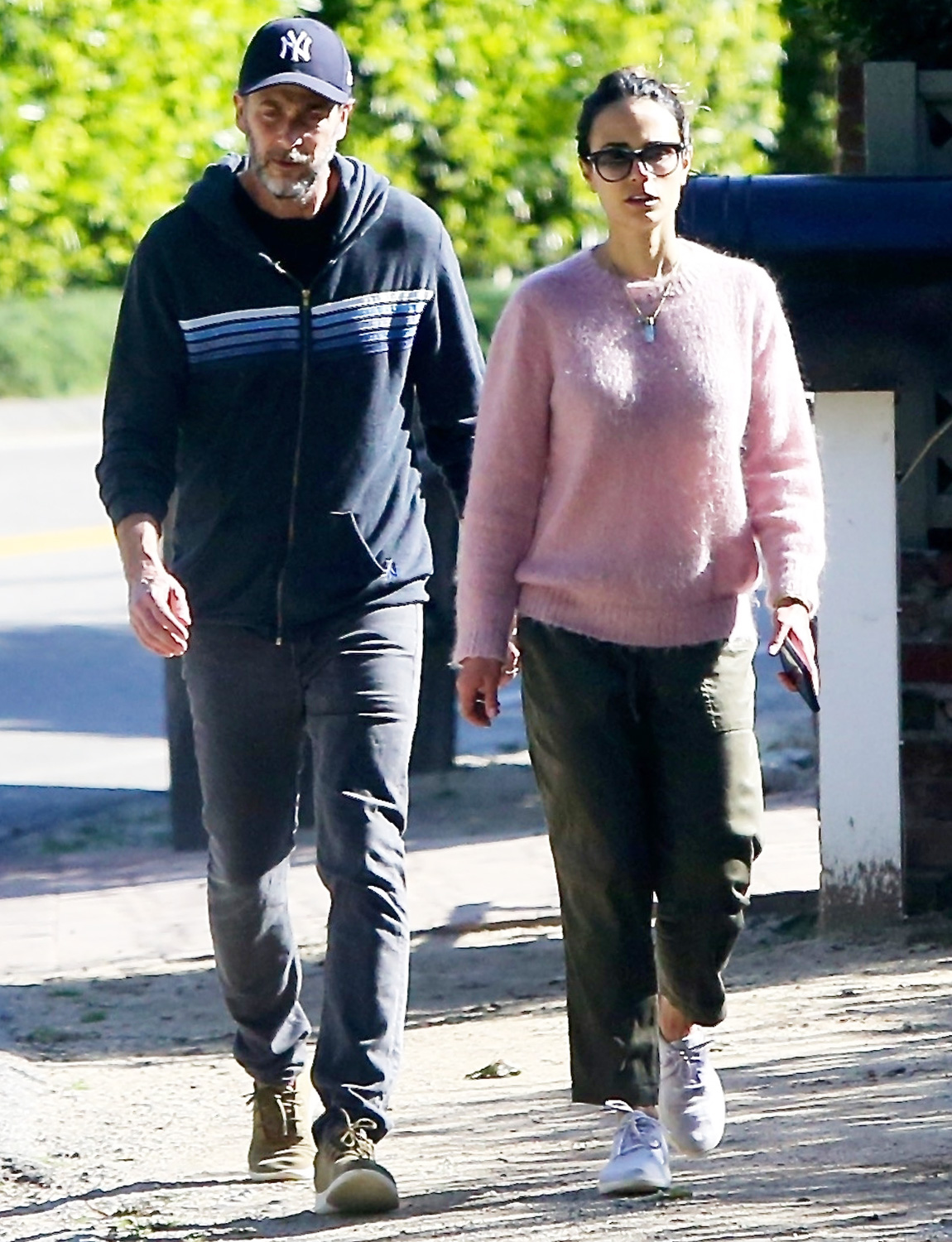 Jordana Brewster Goes Walkies with Husband