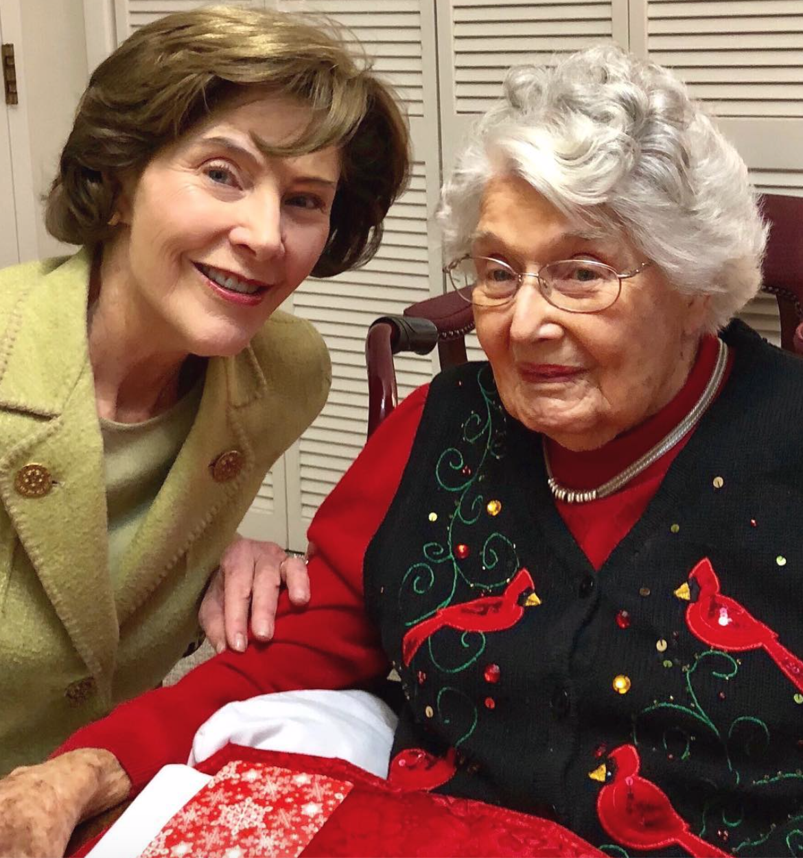 Laura Bush and Her Mother Jenna Welch