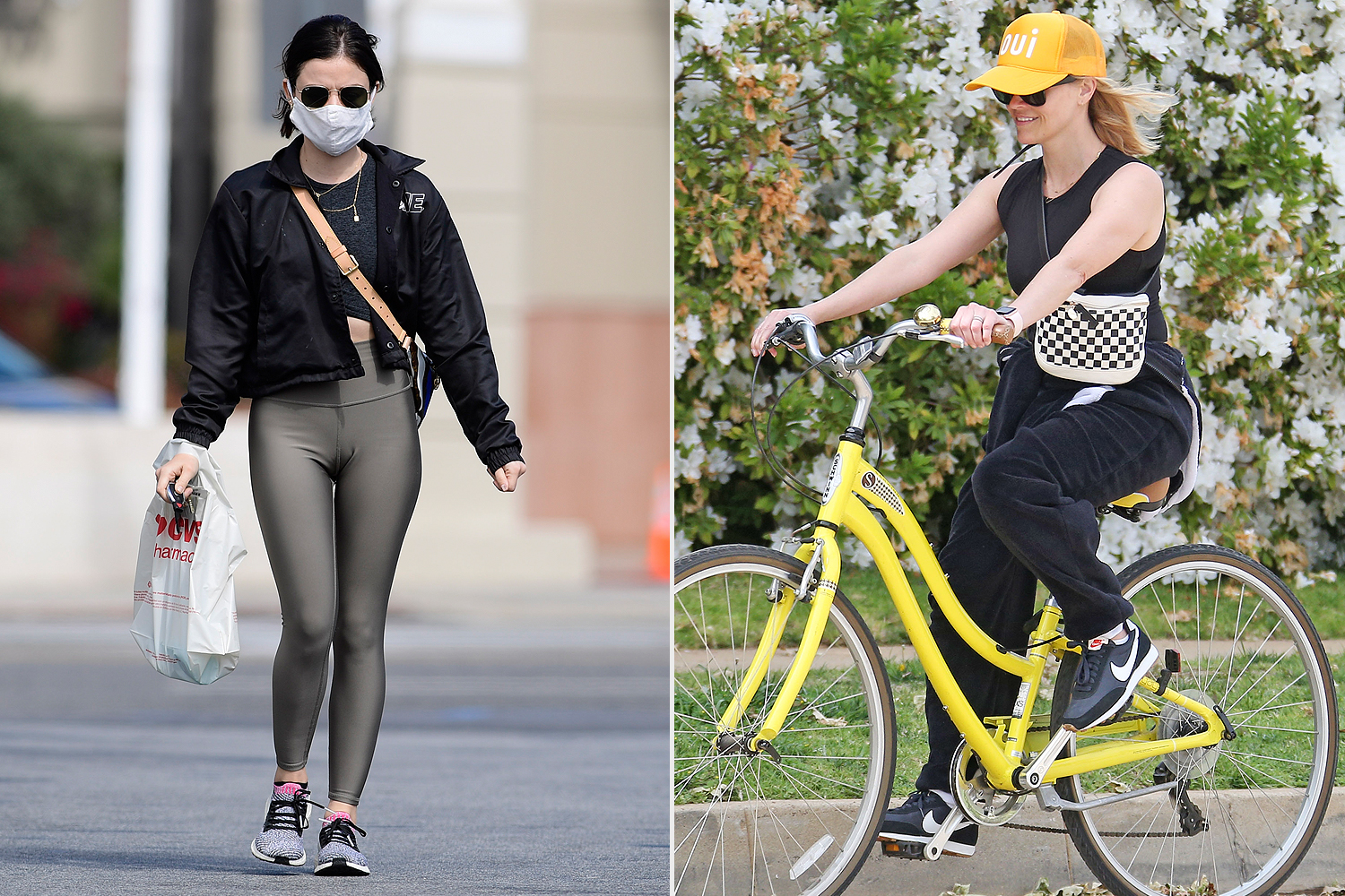 lucy hale; reese witherspoon; belt bags
