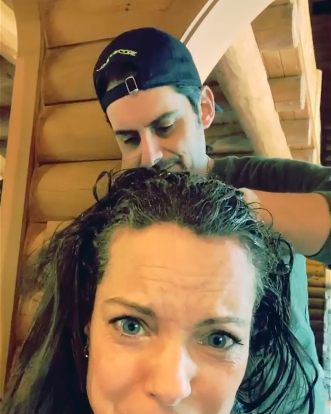 Brad Paisley dyed his wife's hair