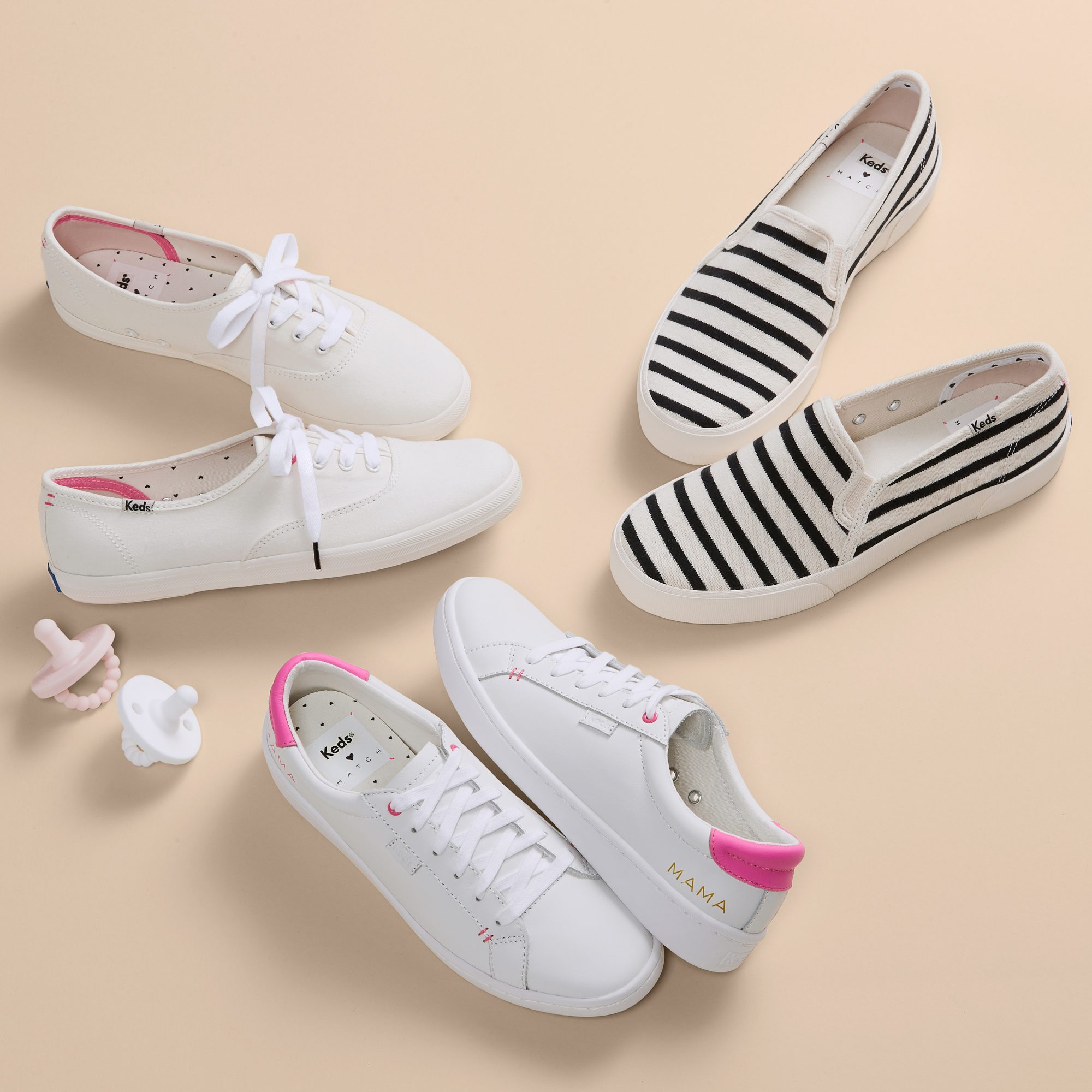 """For most moms, the combo of """"cute,"""" """"functional"""" and """"comfortable"""" can be something of a holy grail. Hatch (the maternity-and-beyond line loved by Meghan Markle and Natalie Portman) teamed up with Keds to make a Mother's Day collection of shoes that's all those things and more - with details so sweet, they're irresistible even to those not chasing after kiddos.                             Buy It!Hatch x Keds, starting at $64.95; hatchcollection.com"""