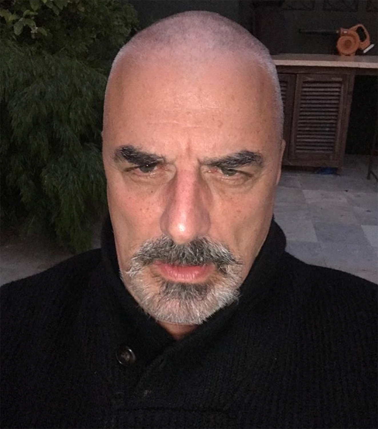 chris noth shaved his head
