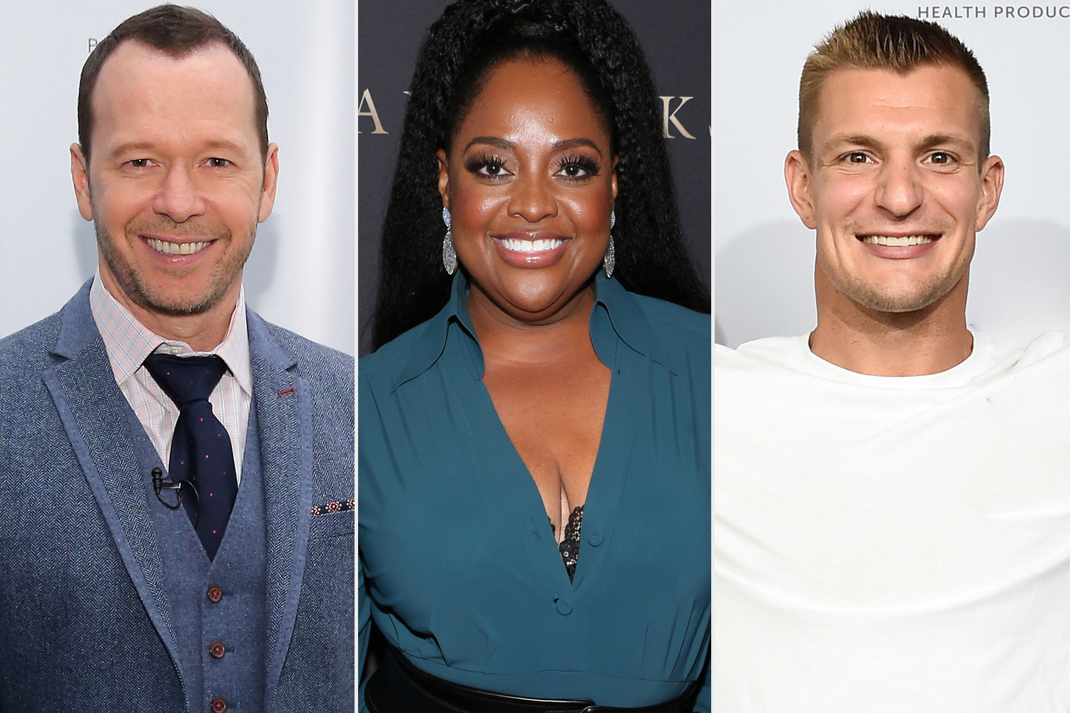 Donnie Wahlberg, Sherri Shepherd and Rob Gronkowski