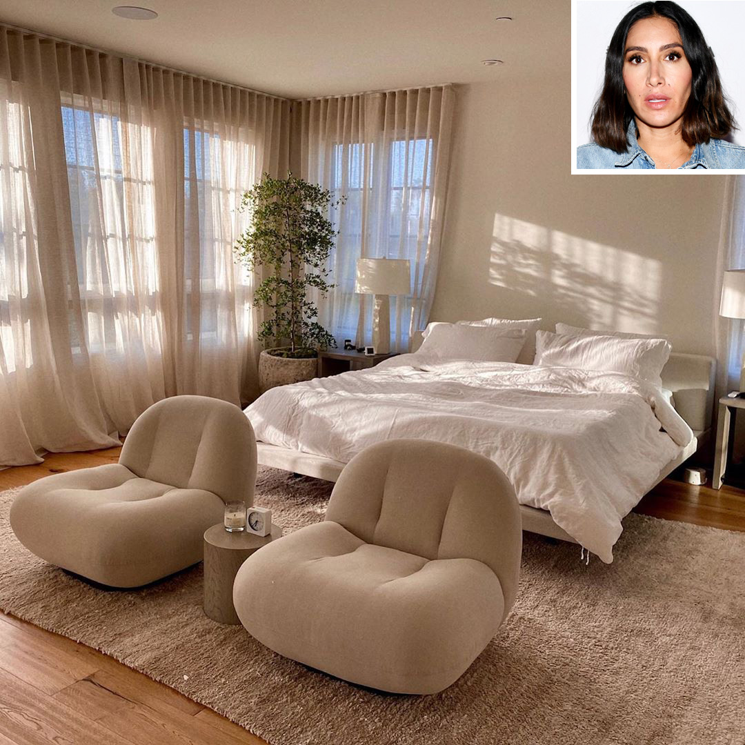 """""""This year brought us more time together and I appreciate it so much,"""" wrote the celebrity hairstylist, showing off the master bedroom she shares with her photographer husband, Mike Rosenthal."""