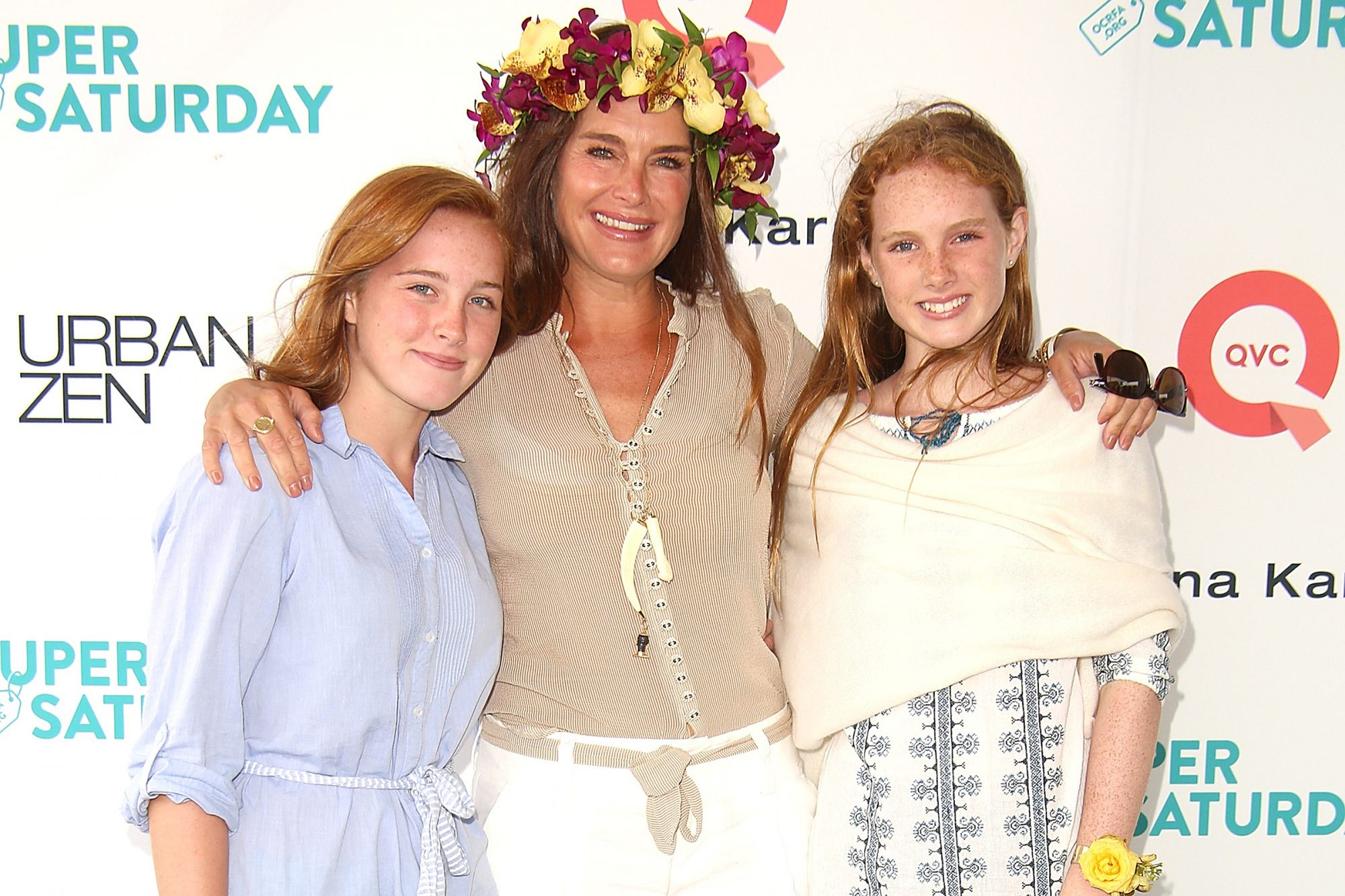 Rowan Henchy, Brooke Shields, and Grier Henchy