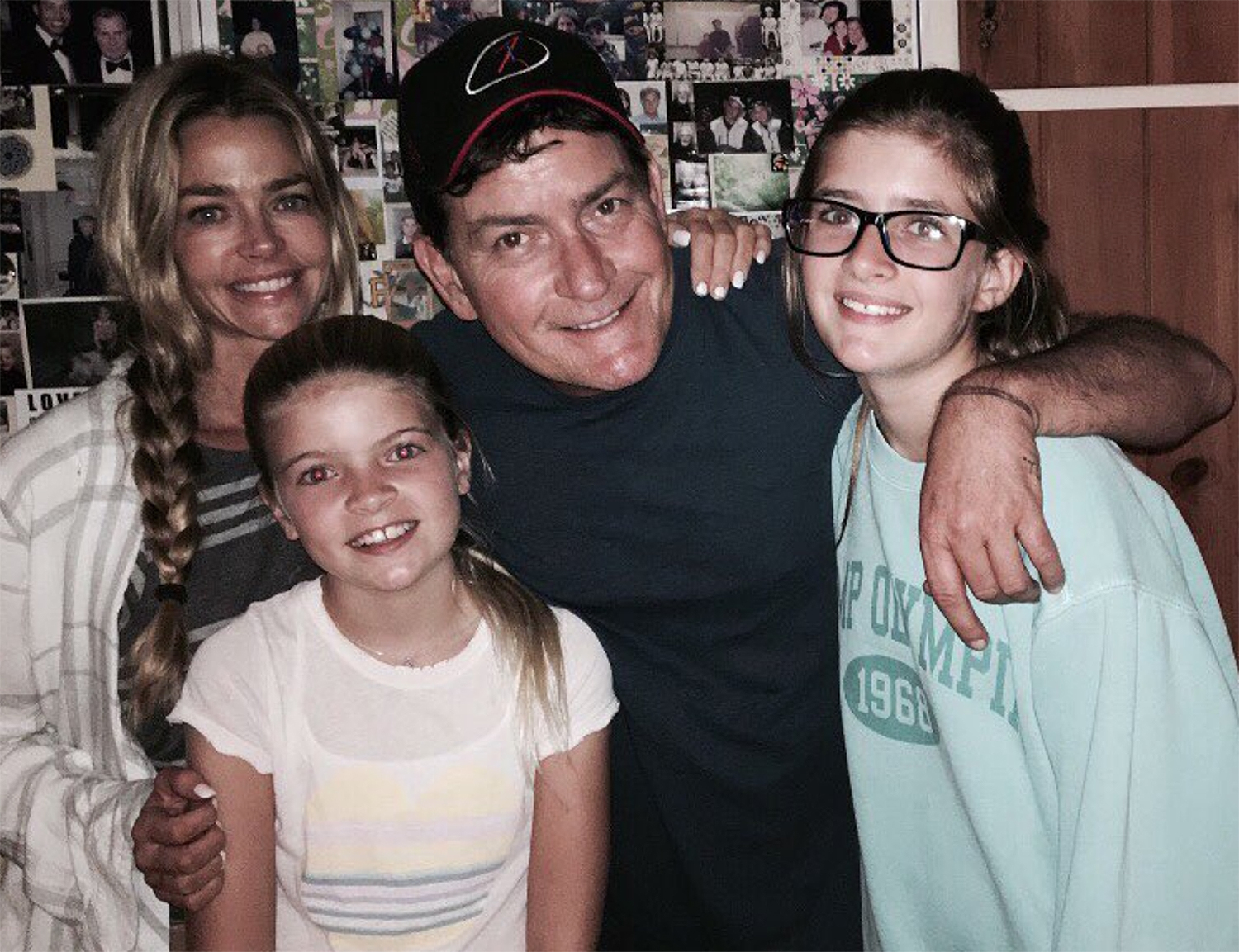 Denise Richards Charlie Sheen daughters