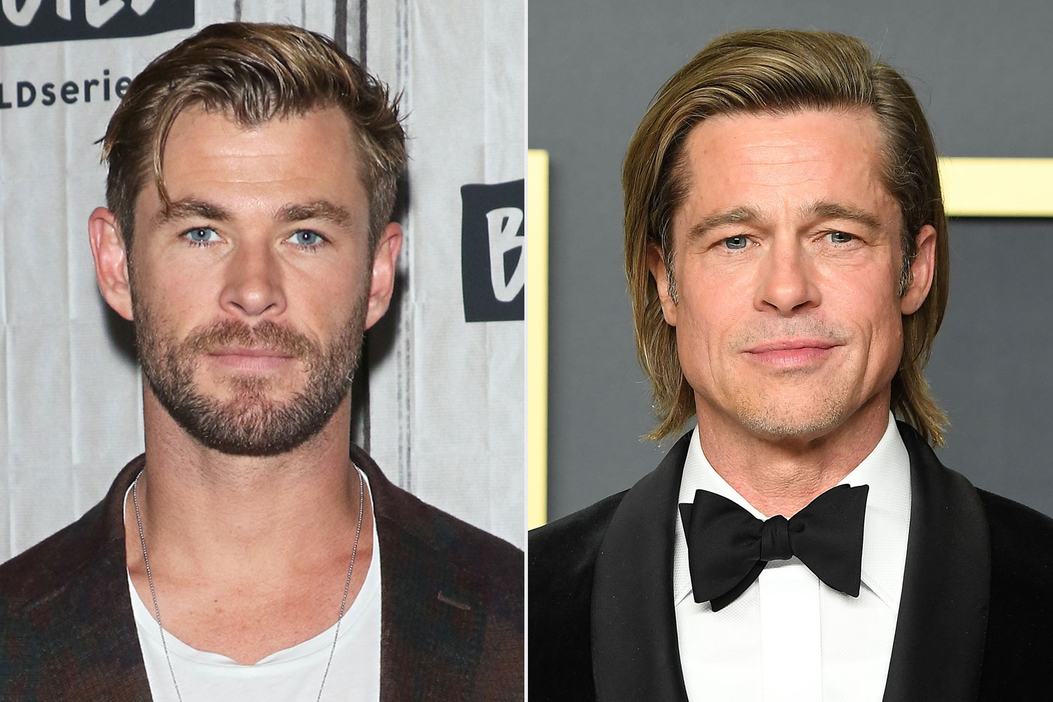 Chris Hemsworth and brad pitt