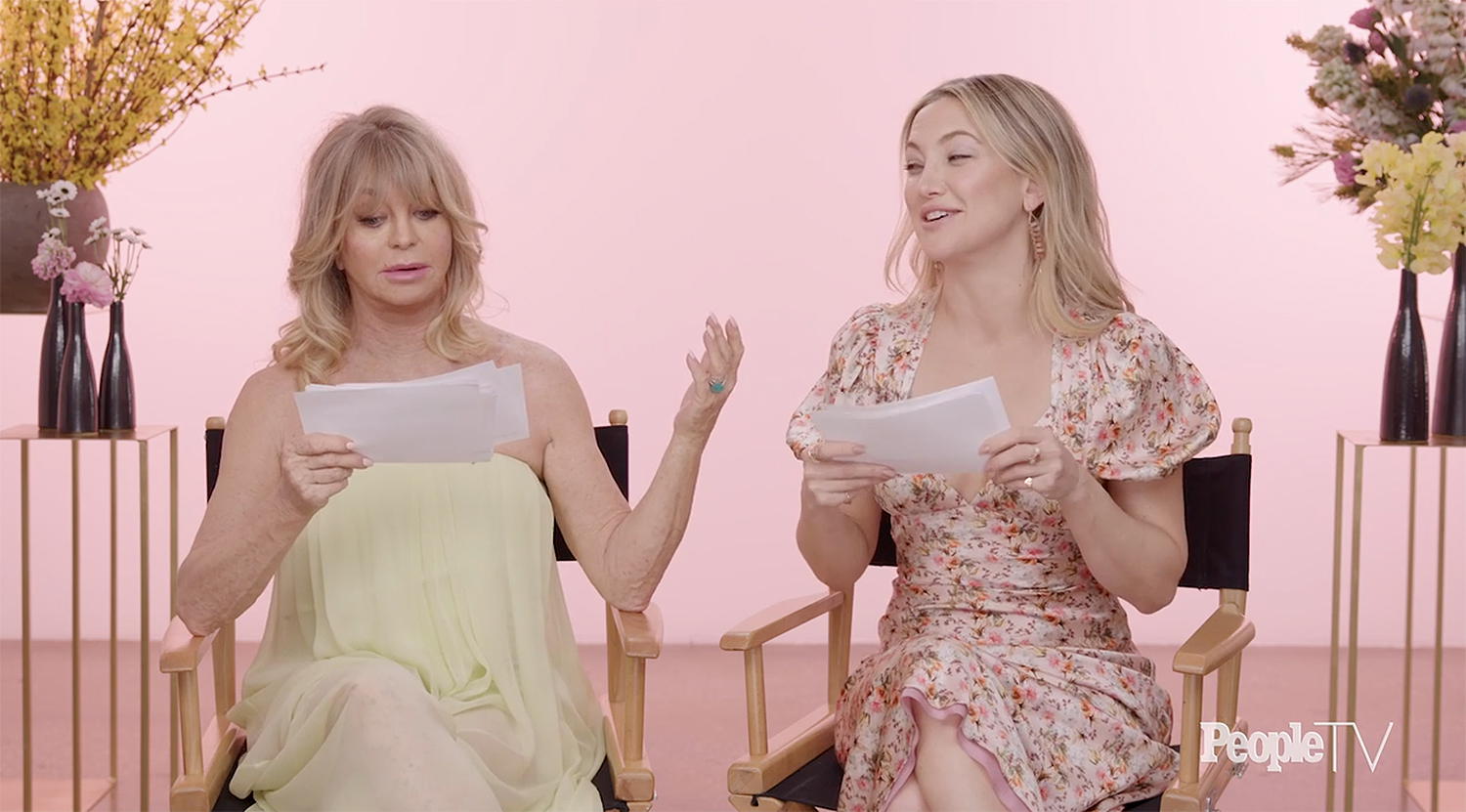 Watch Goldie Hawn and Kate Hudson Reenact Each Other's Iconic Movie Lines