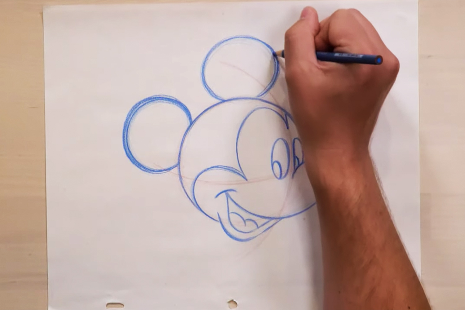 Draw Mickey Mouse at home
