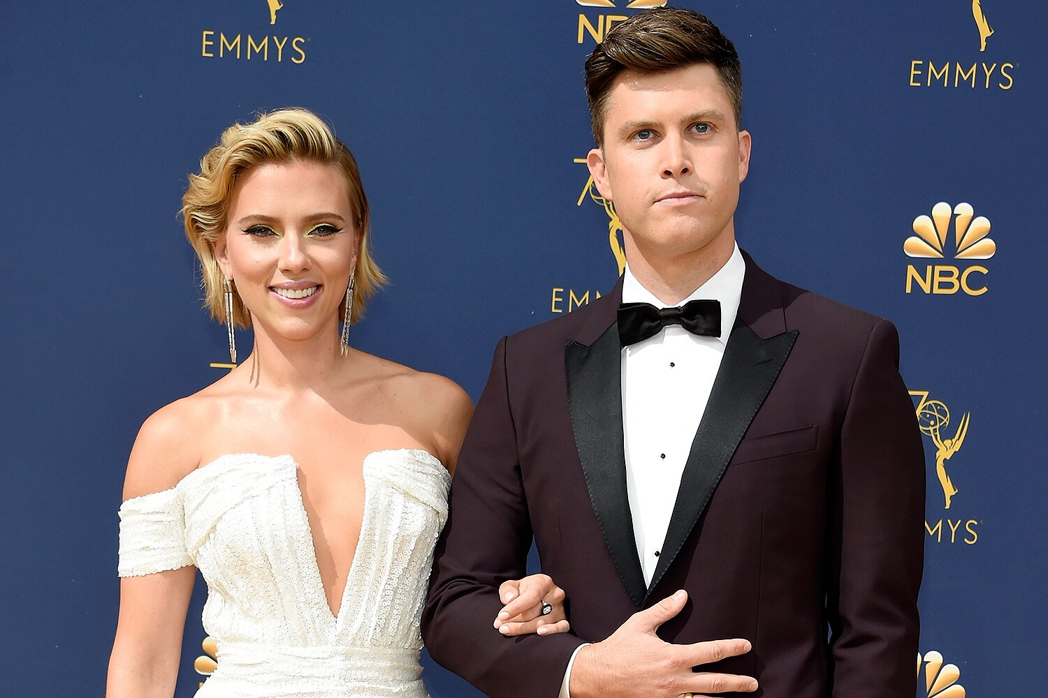 Scarlett Johansson Colin Jost Don T See Eye To Eye On Baseball People Com