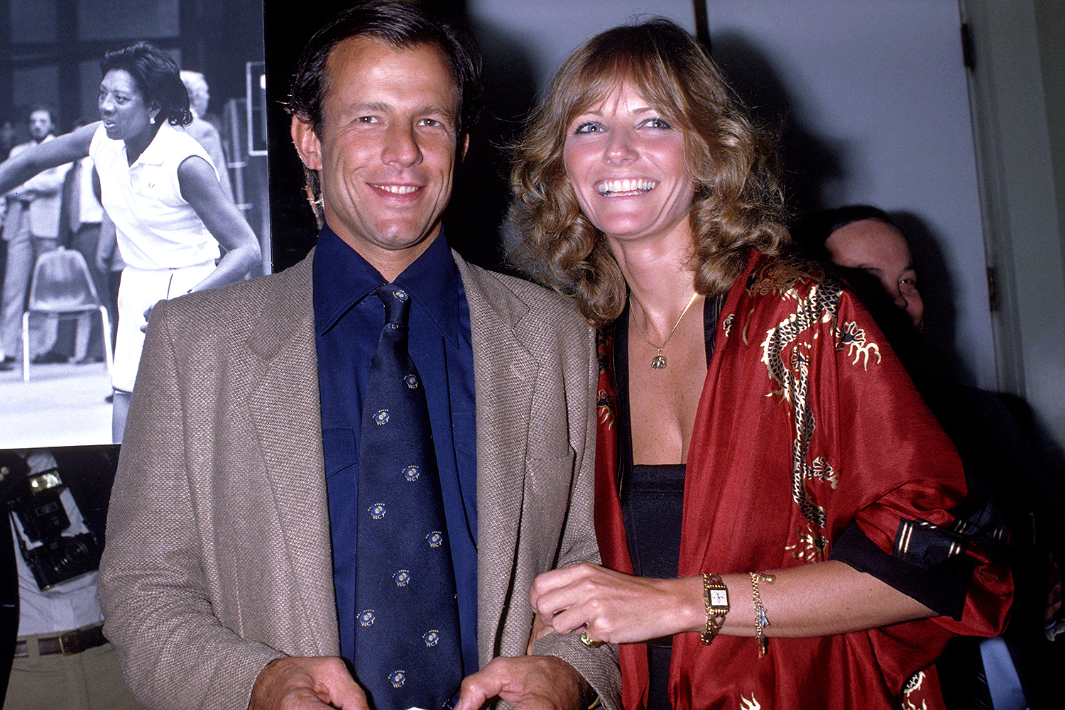 Cheryl Tiegs and Peter Beard