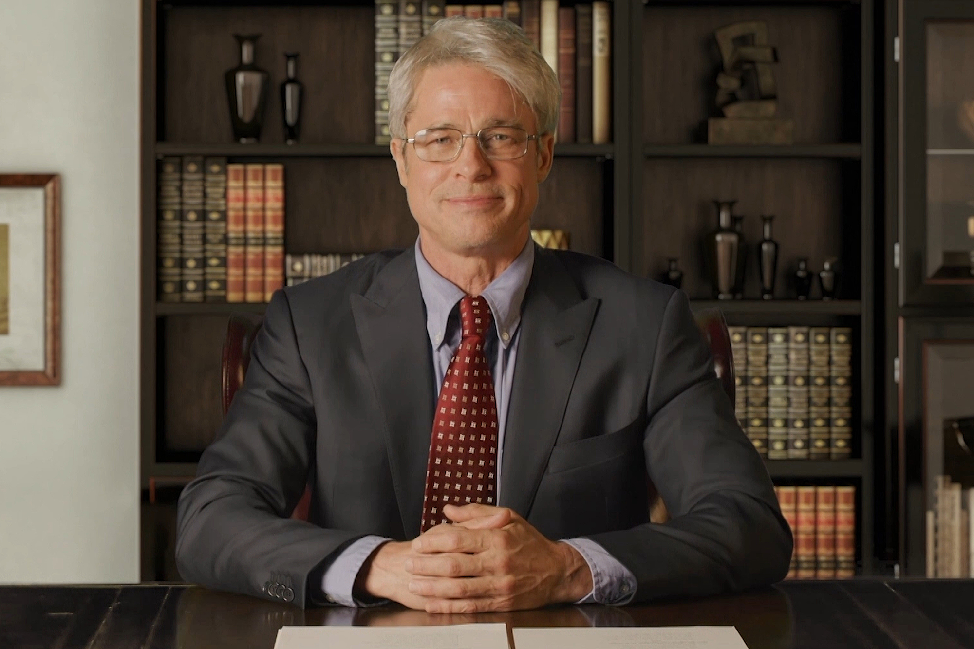 """Brad Pitt as Dr. Anthony Fauci during the """"Fauci Cold Open"""""""