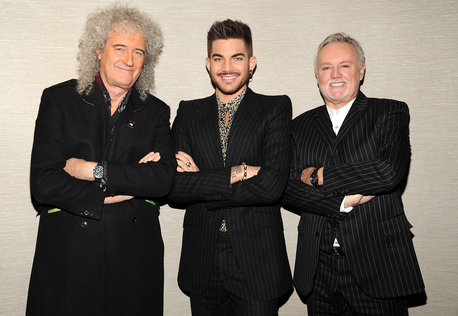 Brian May, Adam Lambert and Roger Taylor