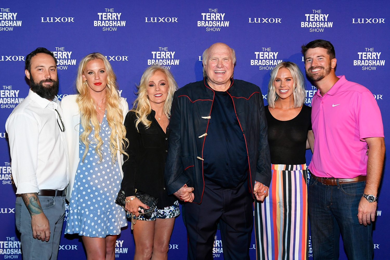 Noah Hester, Erin Bradshaw, Tammy Bradshaw, Pro Football Hall of Fame member and sports broadcaster Terry Bradshaw, Rachel Bradshaw and Dustin Hughes