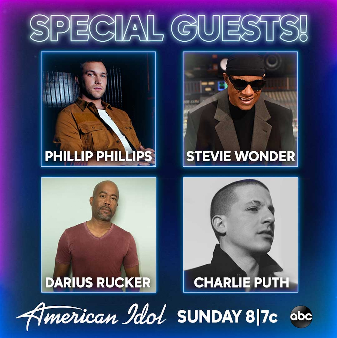 American Idol Guest Judges - Charlie Puth, Stevie Wonder and Darius Rucker To Make Appearances During Virtual Episode