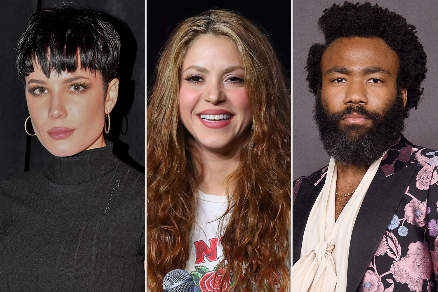 Halsey and Shakira and Donald Glover