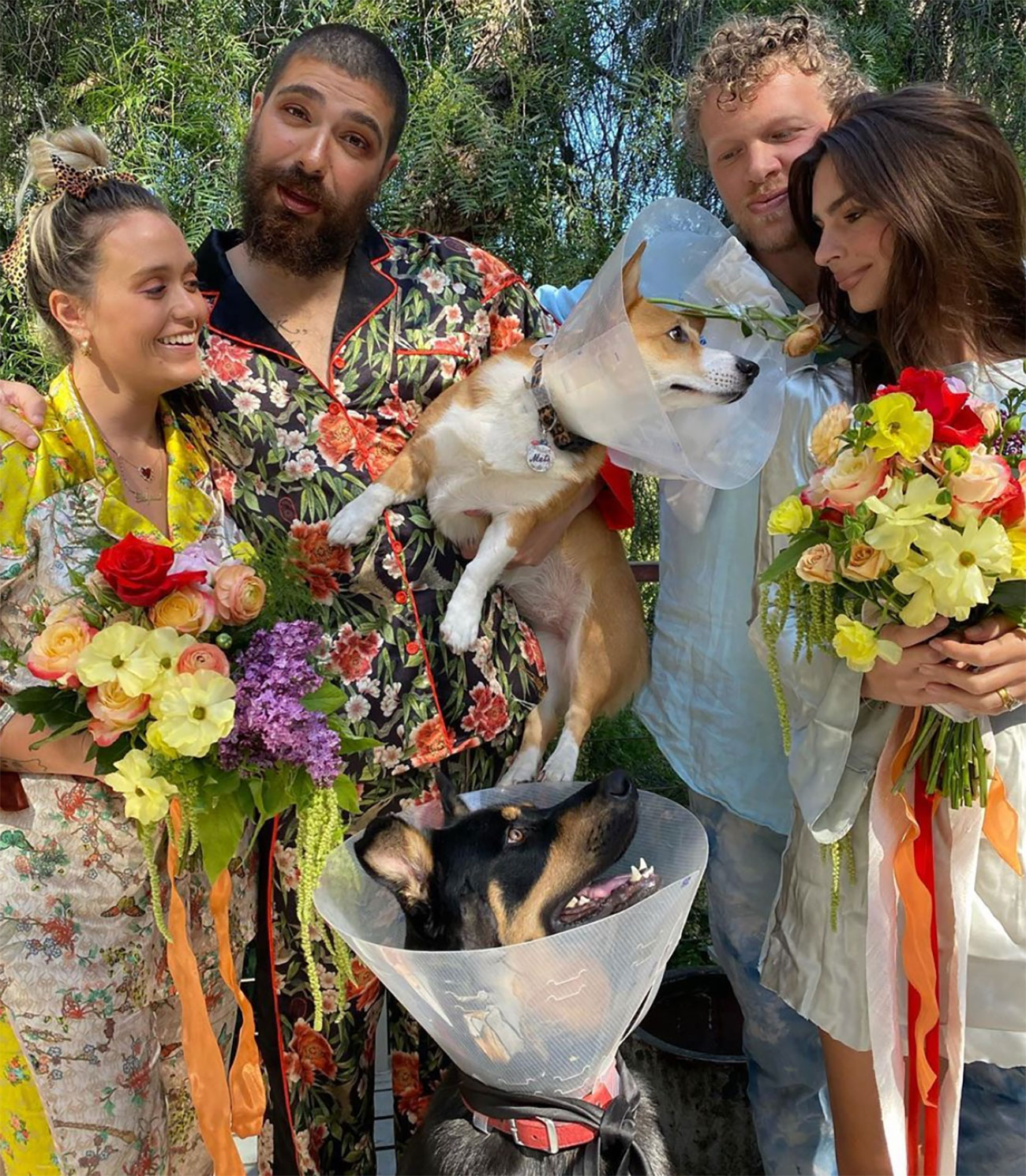 Emily Ratajkowski has wedding for dogs