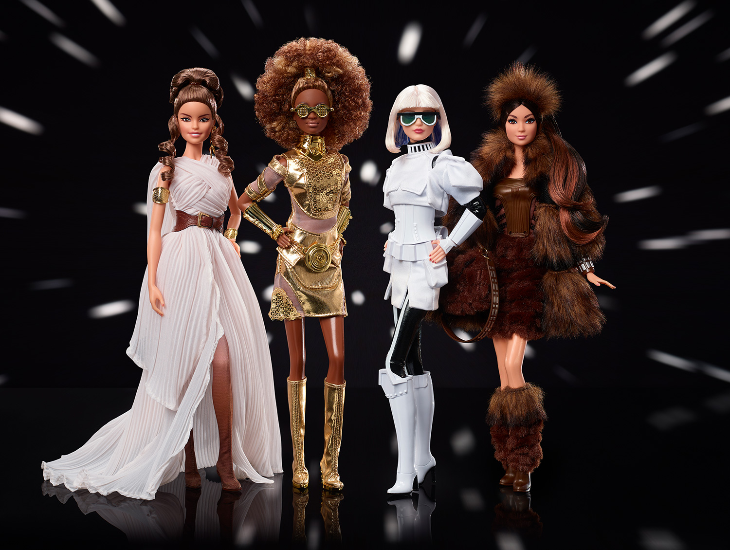 Barbie Announces Four New Star Wars-themed Dolls