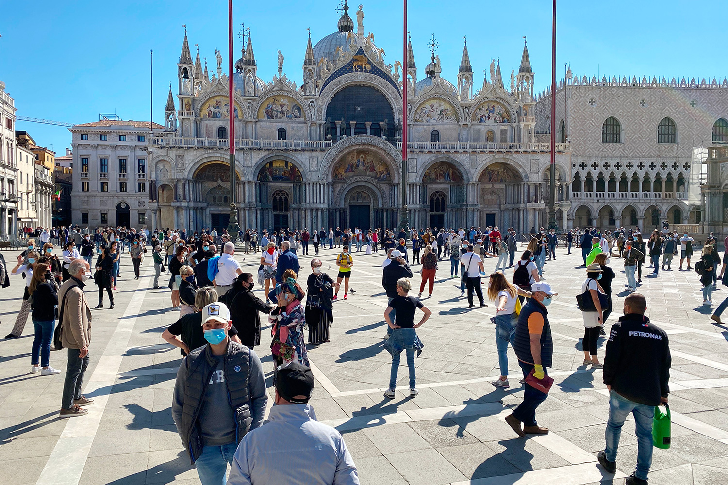 Piazza San Marco on May 4, 2020 in Venice
