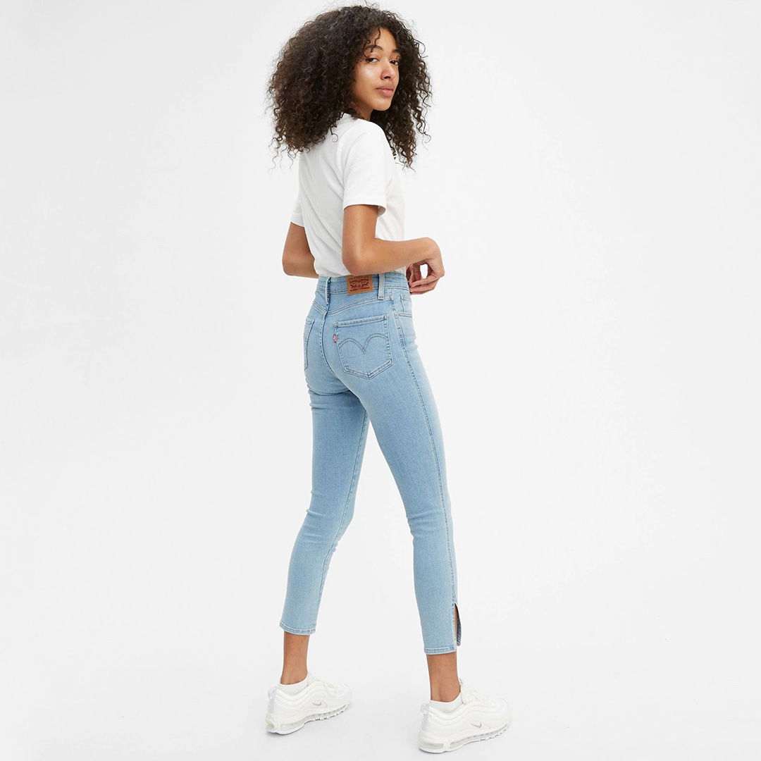 Levi's Button Front 721 High Rise Skinny Jeans