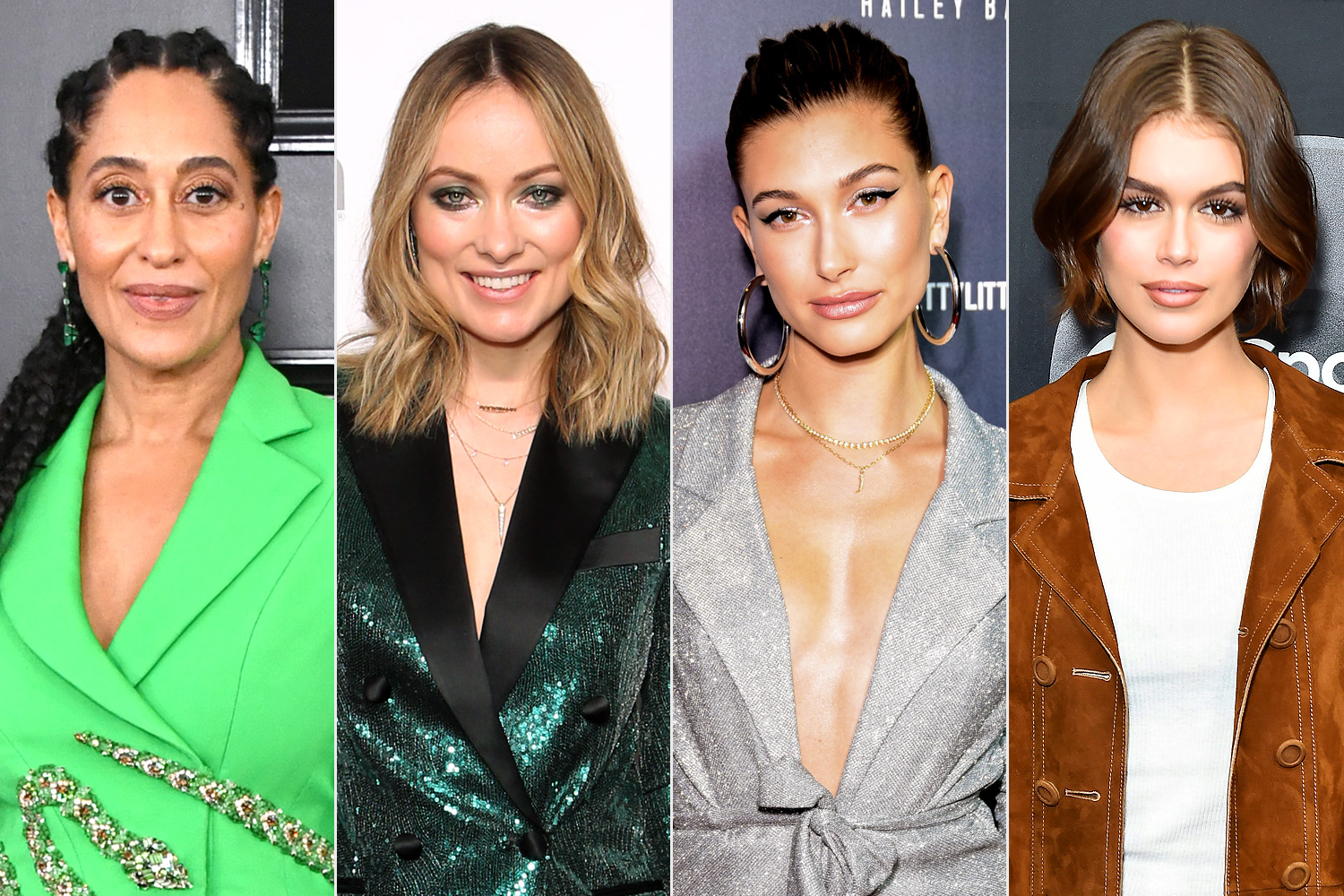 tracee ellis ross, olivia wilde, hailey bieber, and kaia gerber