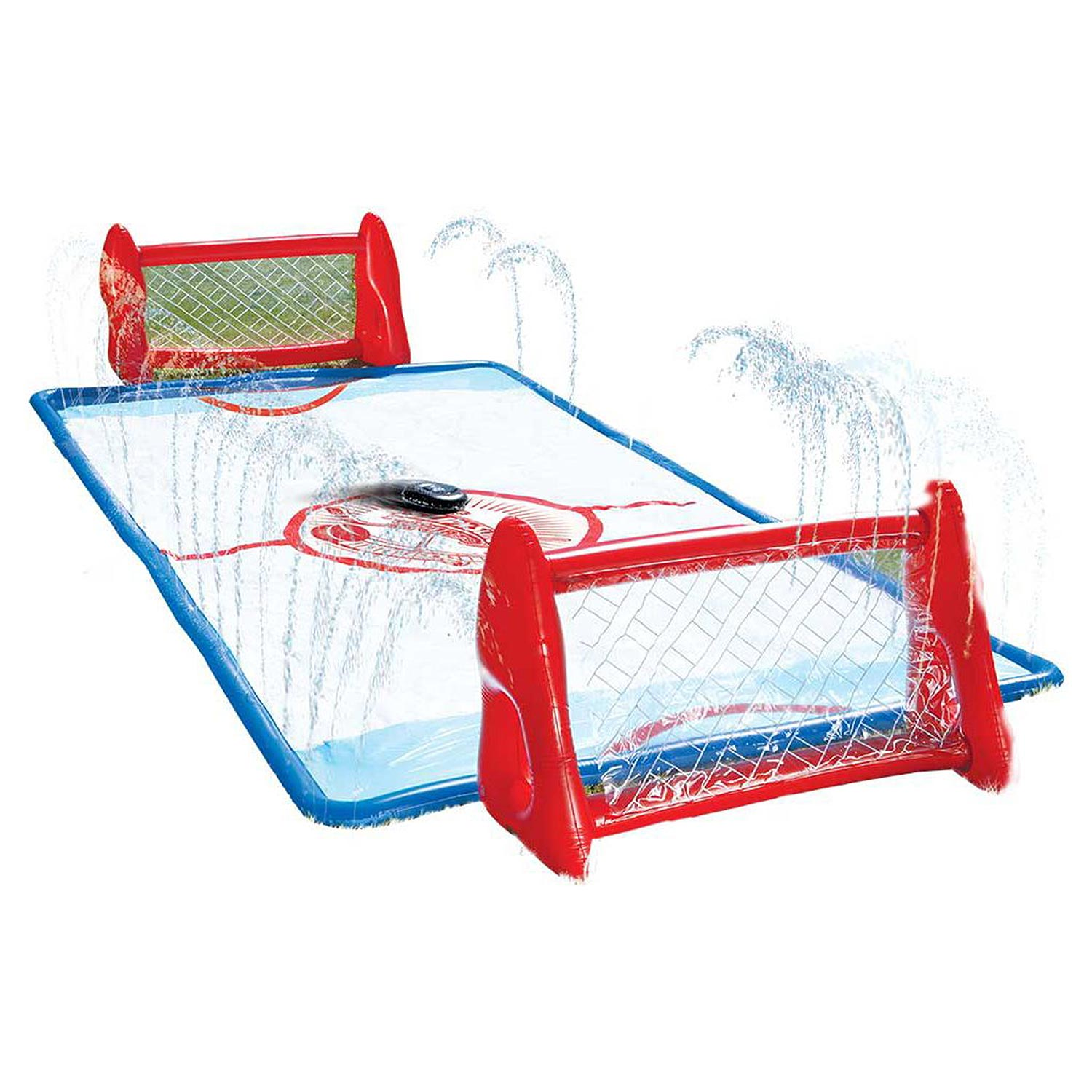 Water Knee Hockey Slip N' Slide Backyard sprinklers