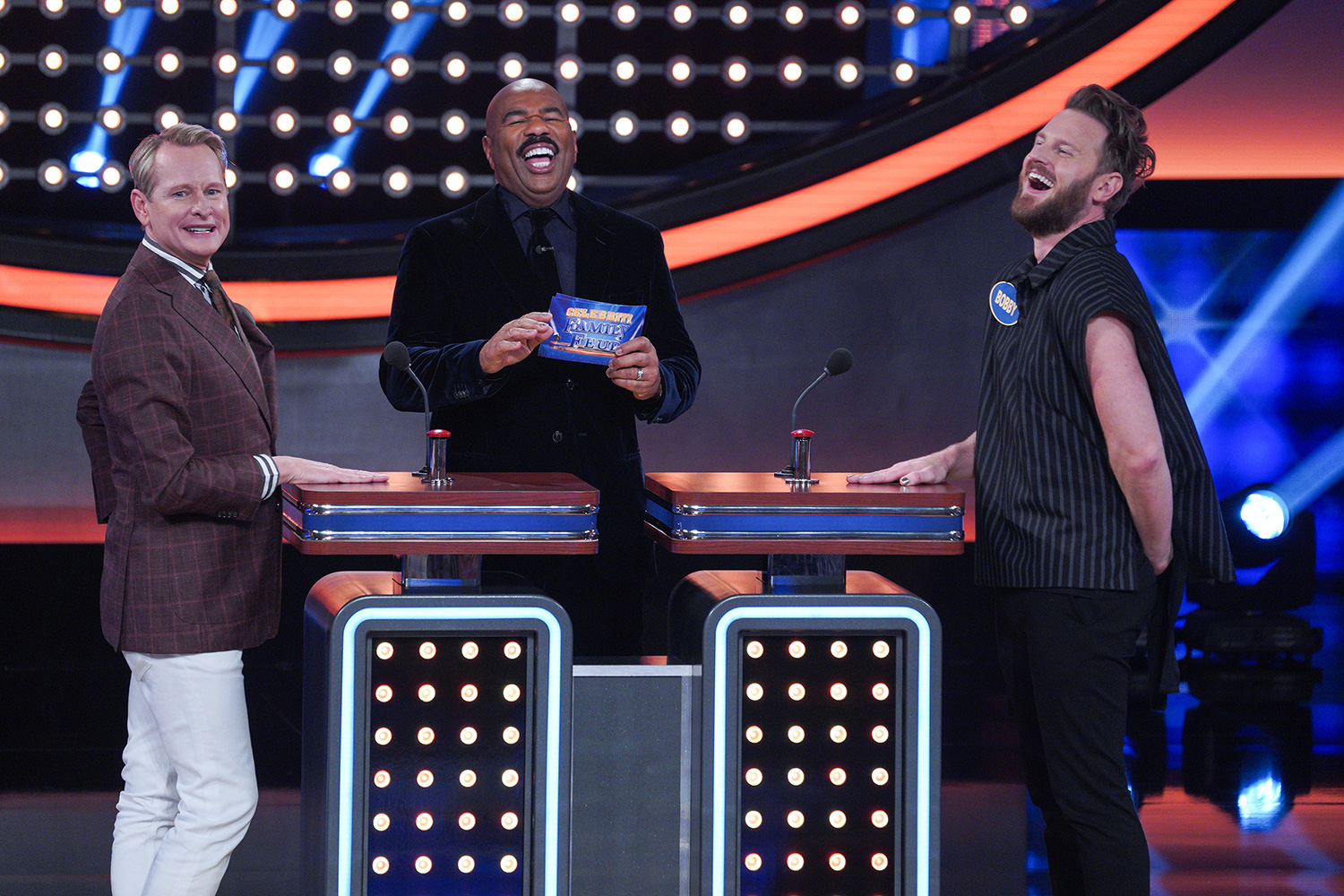 Celebrity Family Feud CARSON KRESSLEY, STEVE HARVEY, BOBBY BERK