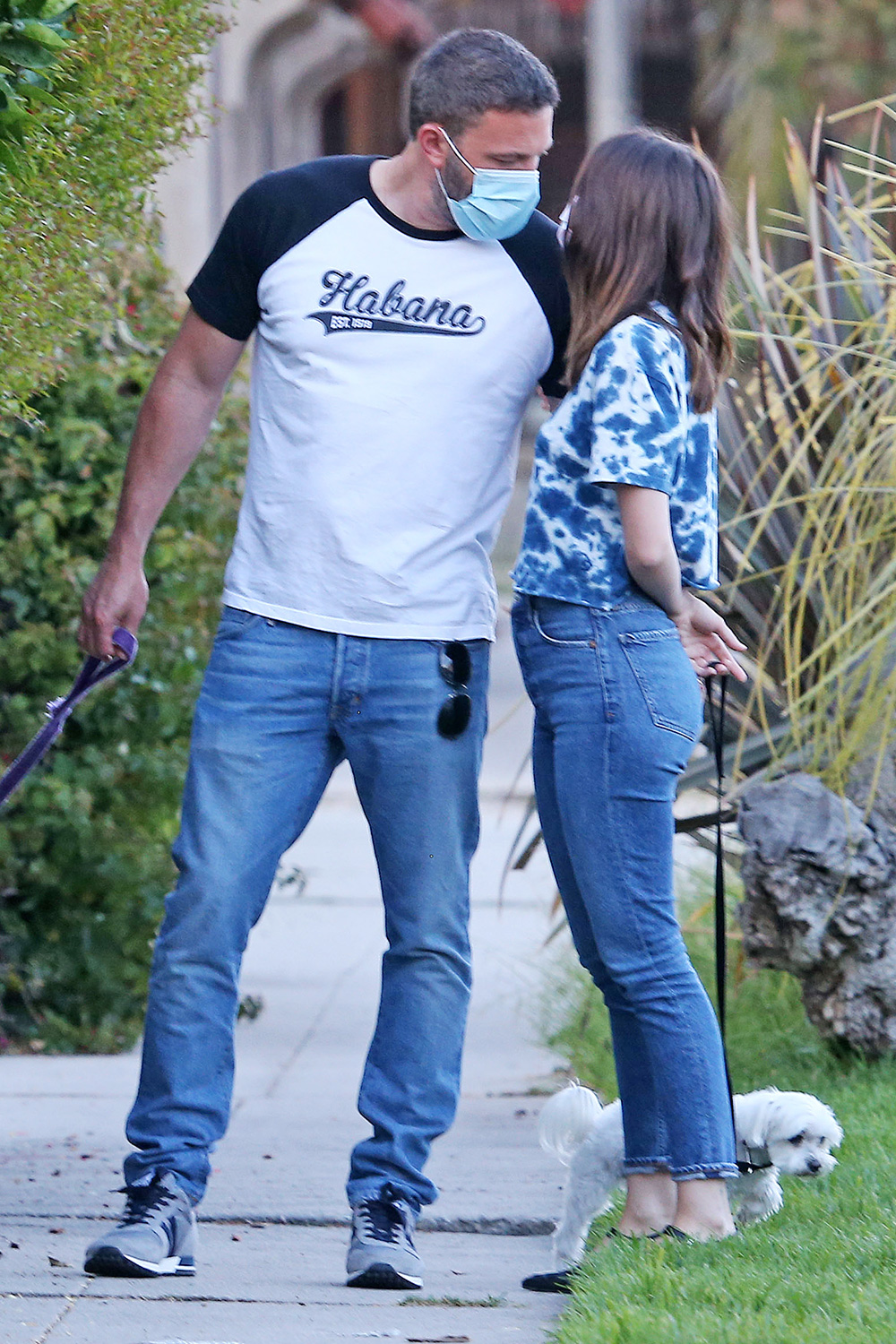 Ben Affleck And Ana De Armas Take Dogs For A Walk During Quarantine