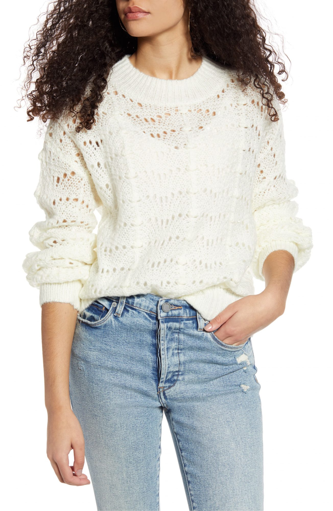 Pointelle Sweater ALL IN FAVOR nordstrom