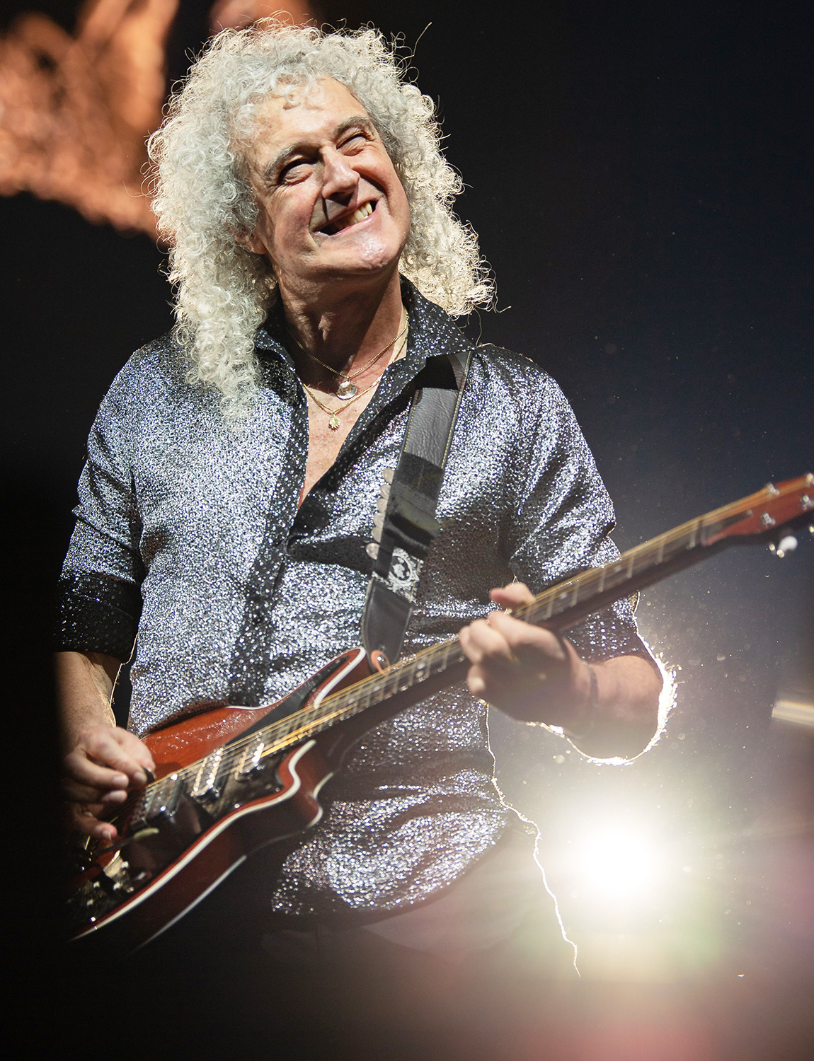 Brian May performs during the Queen + Adam Lambert