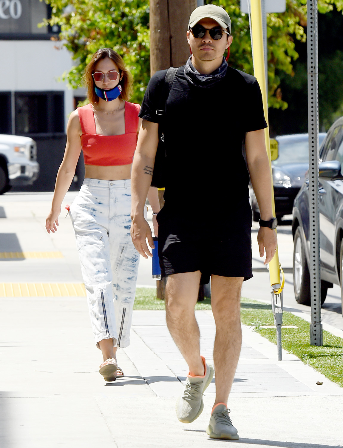 Henry Golding and Liv Lo go for a Leisurely Stroll Around the Neighborhood
