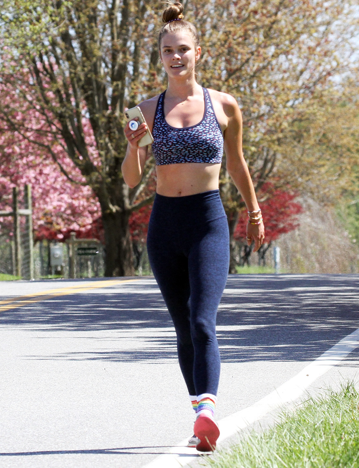 Nina Agdal Out Jogging While Quarantining In The Hampton's