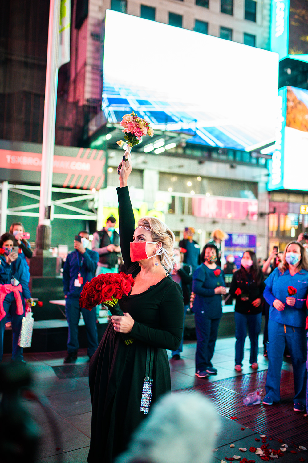 Nurse Gets Married in Times Square After Moving to NYC to Help With Coronavirus