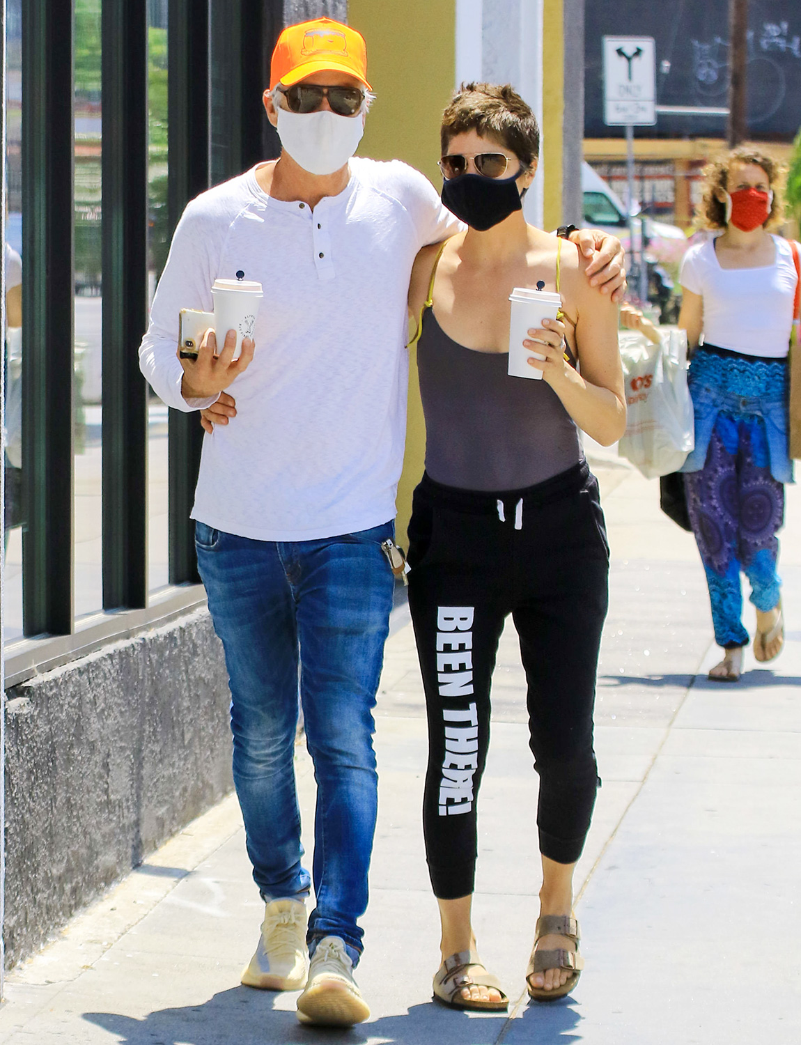 Selma Blair and Ron Carlson out and about, Los Angeles, USA - 10 May 2020