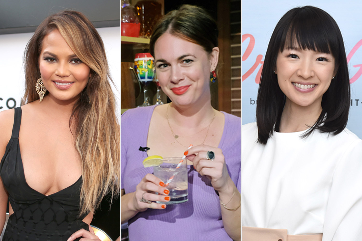 Chrissy Teigen, Alison Roman, and Marie Kondo