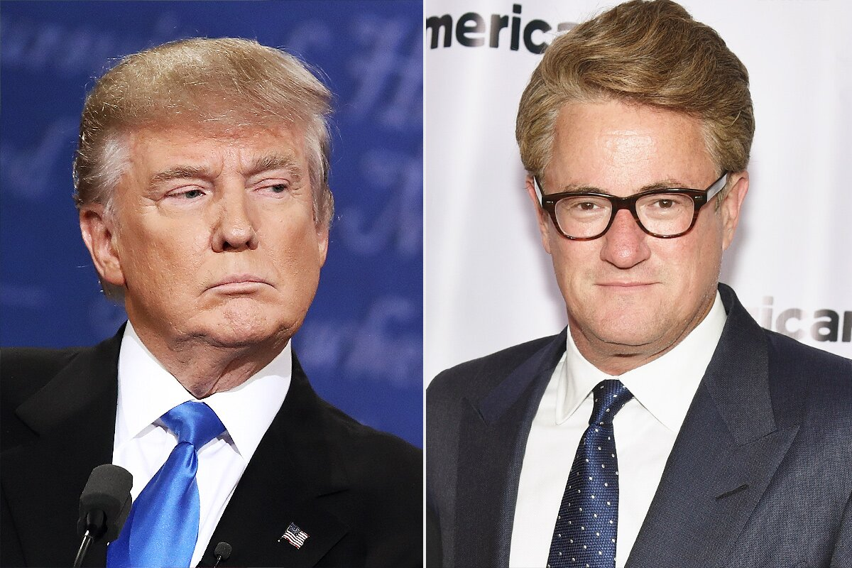 Joe Scarborough Responds to Trump Murderer Tweet | PEOPLE.com