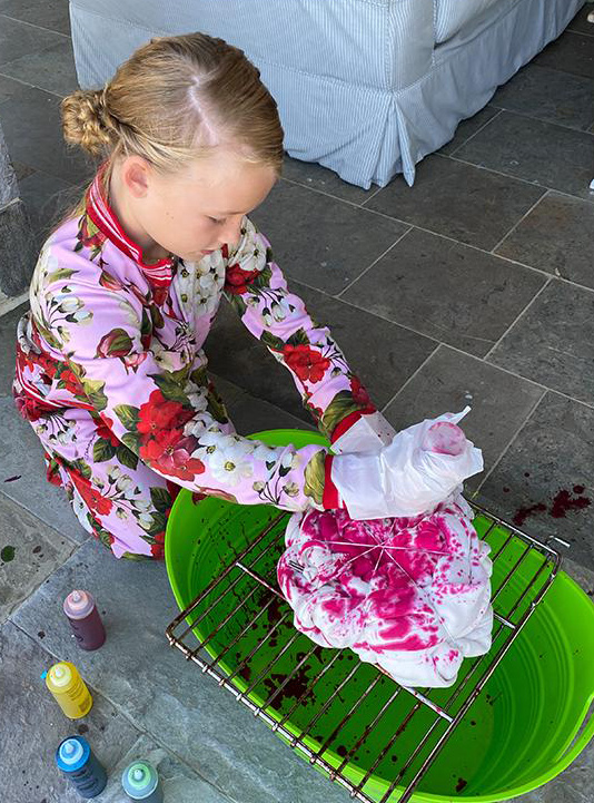 Jessica Simpson's Daughter Maxwell Is the Latest Celeb Kid to Dabble in Tie-Dye amid Pandemic