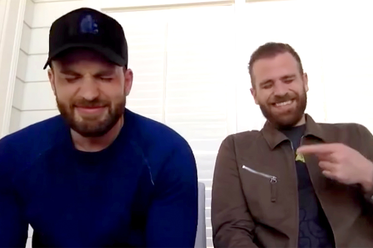 Chris Evans and brother Scott