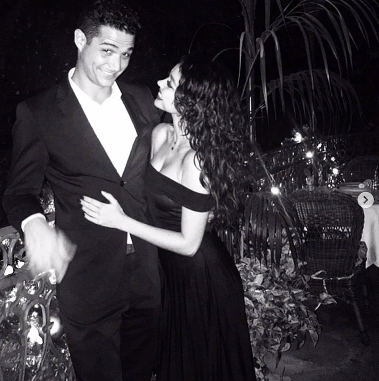 Sarah Hyland wishes Wells Adams a happy birthday