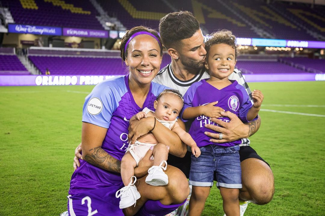 Sydney Leroux and family
