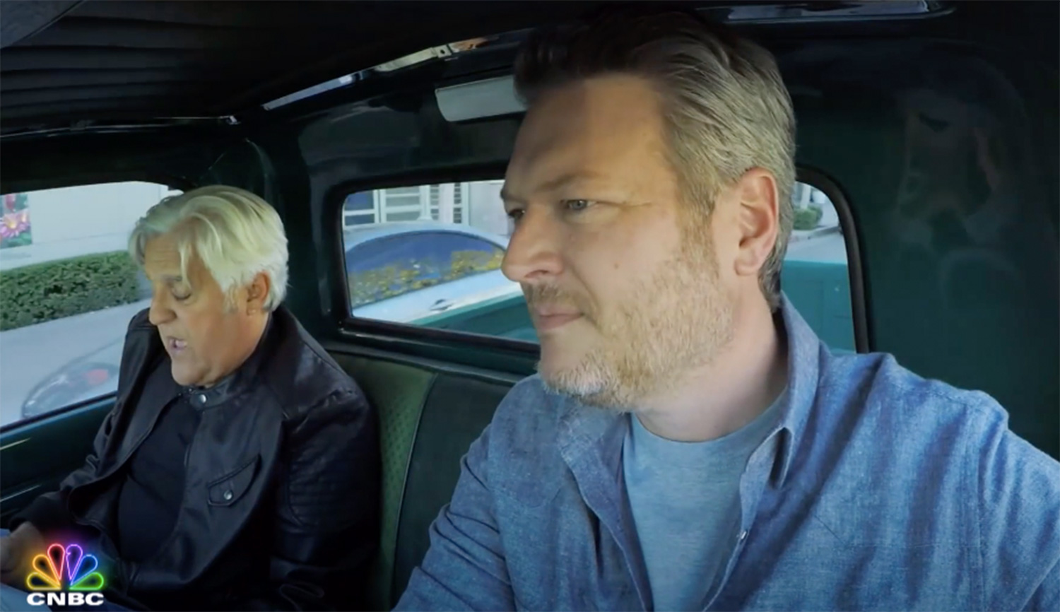 Blake Shelton Appears on CNBC's Jay Leno's Garage