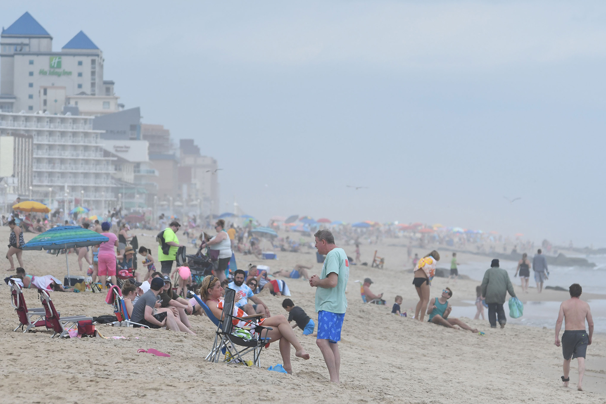 Thousands flocked to Ocean City Saturday, May 16, 2020 after the Mayor opened the hotels and beach and boardwalk for visitors after being closed for weeks