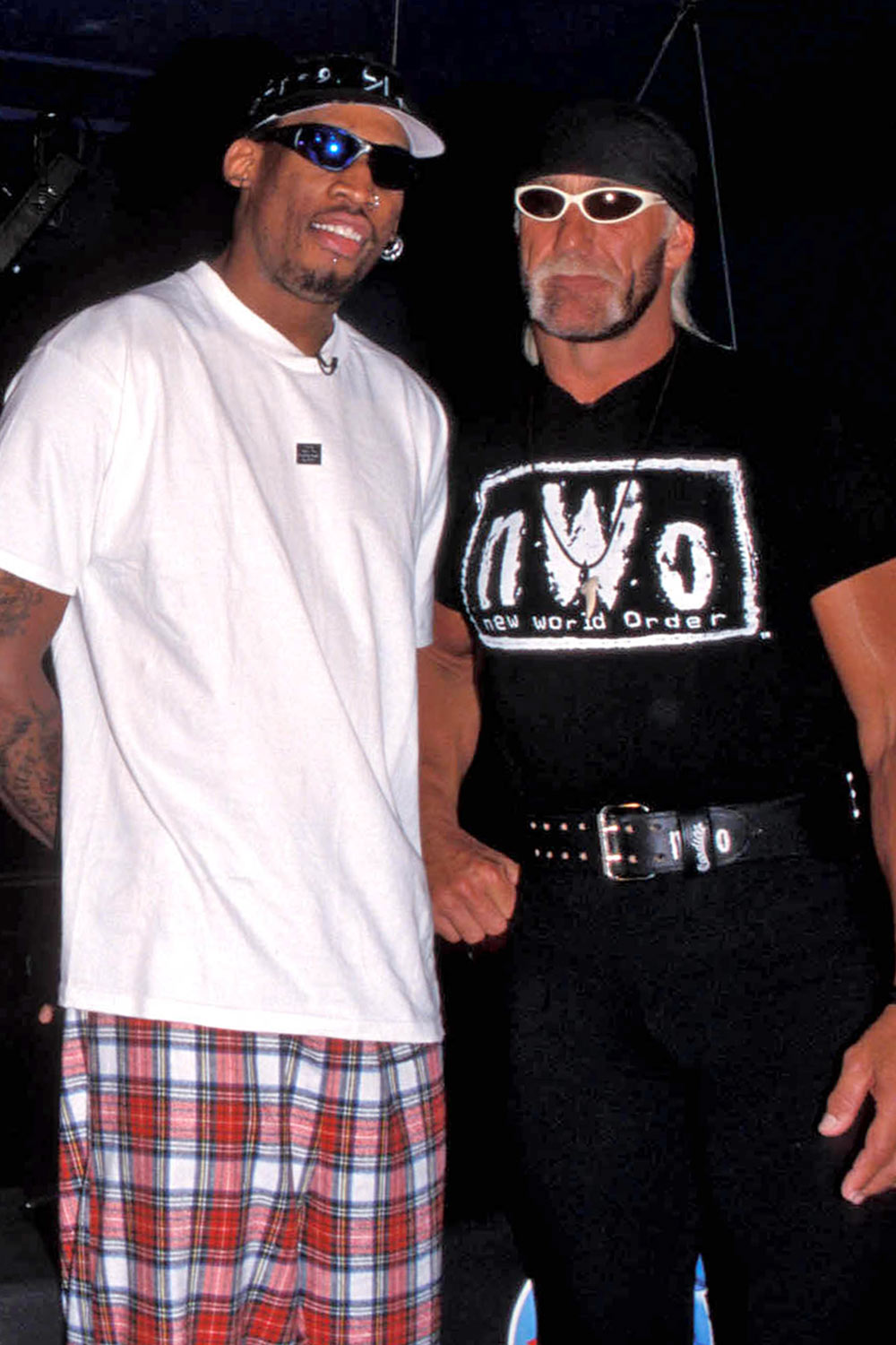 Dennis Rodman and Hollywood Hulk Hogan
